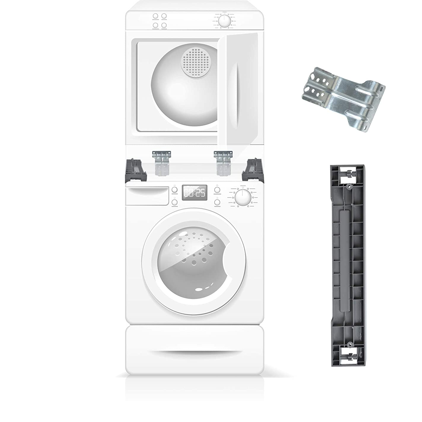 The Exact Stacking Kit for Samsung 27'' SKK-7A - Compatible With All Samsung 27 Inch Front Load Washer and Dryers