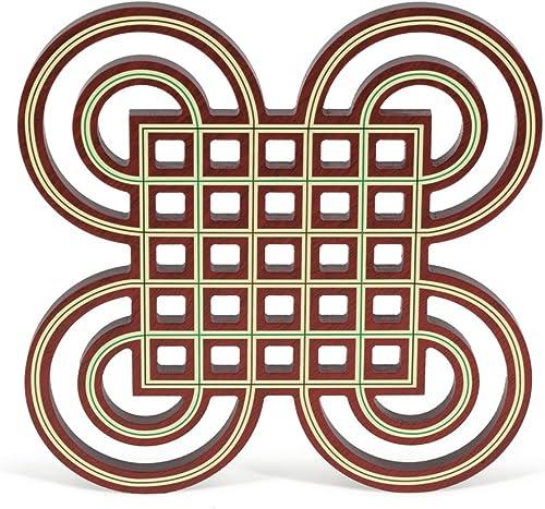 Jeux de l'Antiquité Set de Table, Couleur Bois de baton Rouge (Games Pic Pao 038)