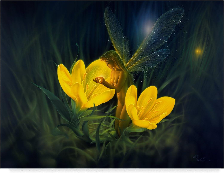 Night Harvest Yellow by Kirk Reinert, 14x19Inch