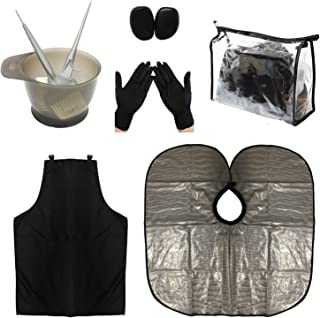 HYOUJIN PRO- Black Hair Dye Coloring DIY Beauty Salon Tool Kit- Hair Tinting Bowl,Dye Brush,Ear Cover,Hair Salon Working Apron,Hair Coloring Cape For Hair Coloring Bleaching Hair Dryers Hair Dye Tools