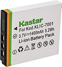 Kastar KLIC-7001 Lithium-Ion Battery Replacement for Kodak EasyShare M1073 is, M1063, M893 is, M863, M763, M853, M753, V70...