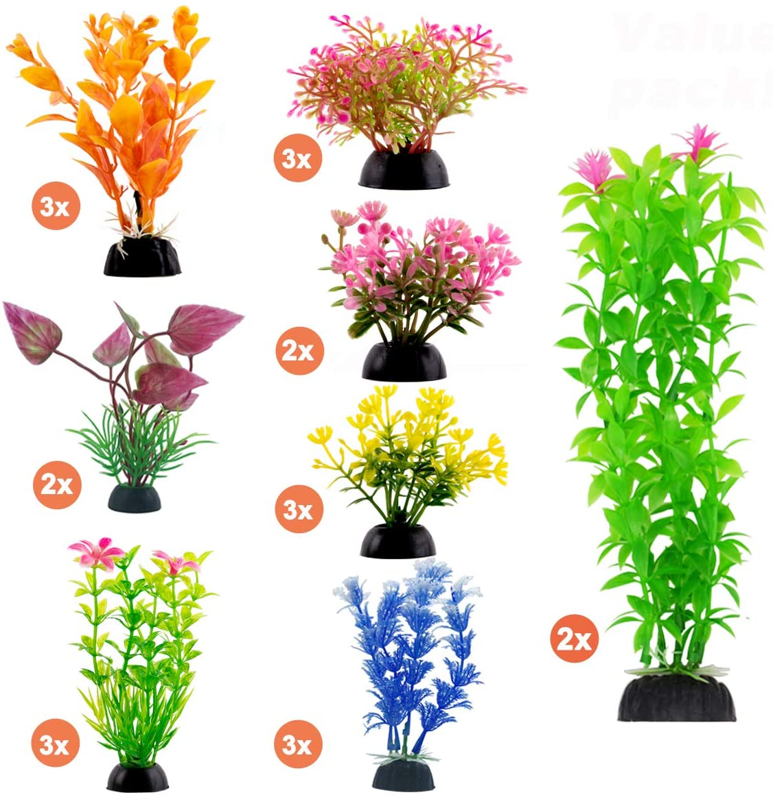 CousDUoBe NEW before 35% OFF selling ☆ Aquarium Decorations 21 Pack Fi Lifelike Plastic Decor