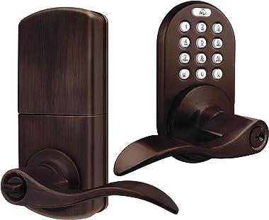 MiLocks TKL-02OB Digital Lever Handle Door Lock with Keyless Entry via Keypad Code for Interior Doors, Oil Rubbed Bronze