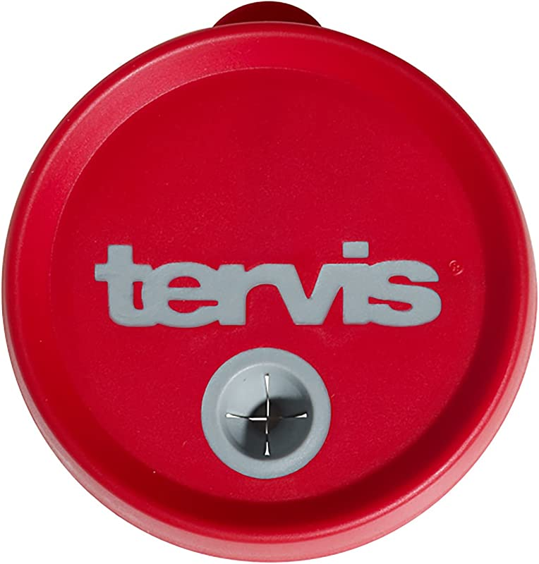 Tervis Tumbler 10oz Straw Lid Red With Grey