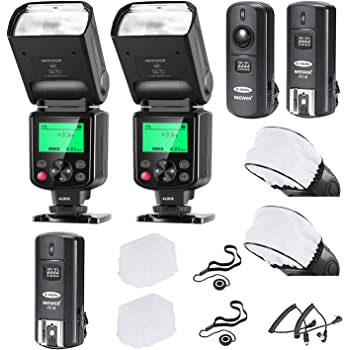 Neewer 2 Packs i-TTL Flash Kit Compatible with Nikon D7100 D7000 D5300 D5200 D5100 D5000 D3200 D3100 D3300 D90 D800 D700 Includes Auto-Focus Flashes, Wireless Trigger and Accessories