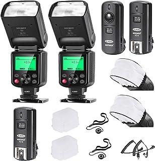 Neewer 750II i-TTL Flash Speedlite Kit para Cámara Nikon DSLR 2 Neewer 750II Flash 2.4G Gatillo Inalámbrico (1 Transmisor 2 Receptor) Cable N1/N3 2 Difusor Duro y Blando 2 Tapa Lente