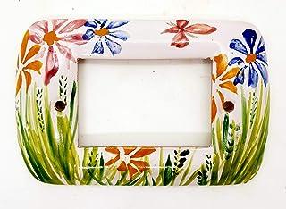 Placchette Bticino Living Fiori del Sorriso Ceramica Handmade Le Ceramiche del Castello Made in Italy