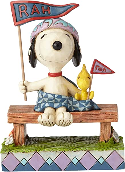 Enesco Peanuts By Jim Shore Snoopy And Woodstock Bleacher Buddies Figurine 4 25 Multicolor