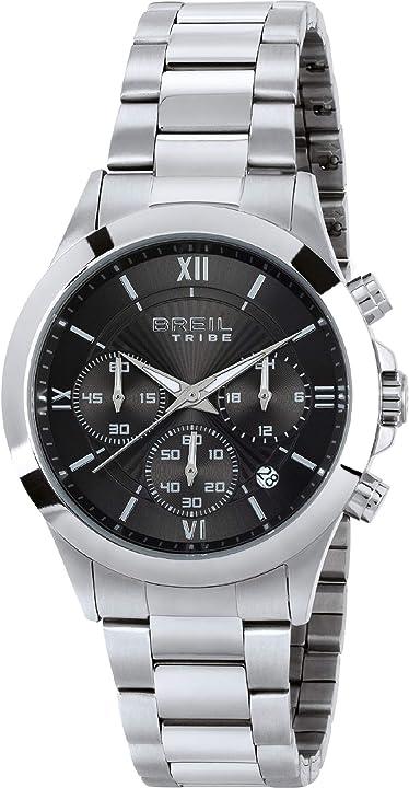 Orologio uomo breil choice quadrante mono-colore movimento chrono quarzo e bracciale acciaio EW0329