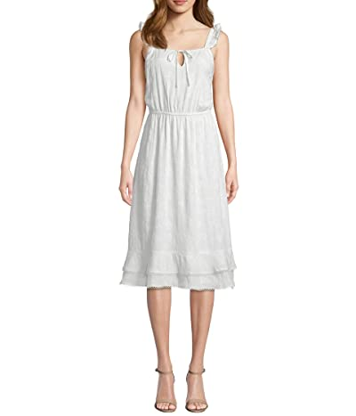 Cupcakes and Cashmere Avalon Floral Embroidered Midi Dress (Marshmallow) Women