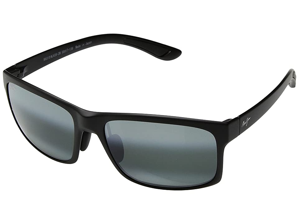 Maui Jim Pokowai Arch (Black Matte/Neutral Grey) Athletic Performance Sport Sunglasses