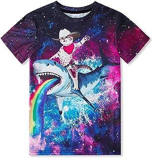 RAISEVERN drôle Enfants Unisexes 3D imprimé T-Shirts Casual Tops Tees Cool Manches Courtes pour Les garçons Adolescents Fi...