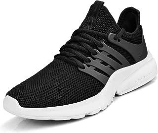 Troadlop Women Shoes No Slip Tennis Running Walking Casual Sport Breathable Black White 5.5