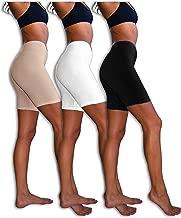 Sexy Basics Slip Shorts   3-Pack Bike Shorts   Cotton Spandex Stretch Boyshorts for Yoga/Workouts