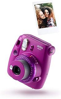 instax 70100143721 mini 9 cámara transparente con 10 disparos, color morado