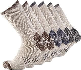 Men Crew Socks Warm Socks -NEVSNEV 70% Merino Wool Athletic Socks for Men, Suitable for Hiking,Trekking,Camping