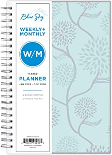Blue Sky 2020 Weekly & Monthly Planner, Frosted Flexible Cover, Twin-Wire Binding, 5
