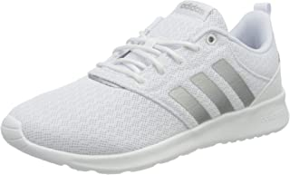 Adidas QT Racer 2.0 Floral-Pattern Backstay Pull-Tab Side-Stripe Lace-Up Running Sneakers for Women