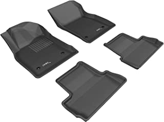 3D MAXpider Complete Set Custom Fit All-Weather Floor Mat for Select Buick Verano Models - Kagu Rubber (Black)