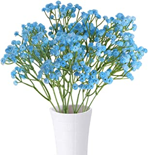 XYXCMOR Baby Breath Artificial Flowers 4pcs Gypsophila Bouquets Fake Plants for Home DIY Wreath Wedding Boutonniere Garland HairAccessories Decor Blue