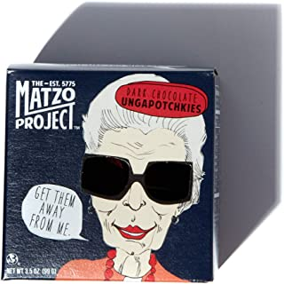 Handcrafted Chocolate Ungapotchkies, Mixed Pack with Milk Chocolate and Dark Chocolate Clusters from The Matzo Project, 3.5oz, Pack of 4