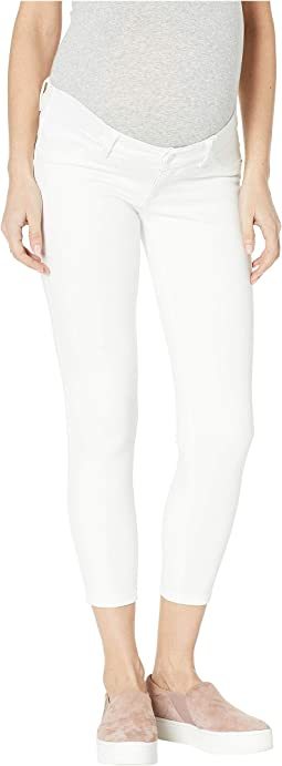 Florence Crop Maternity Mid-Rise Instasculpt Skinny in Porcelain
