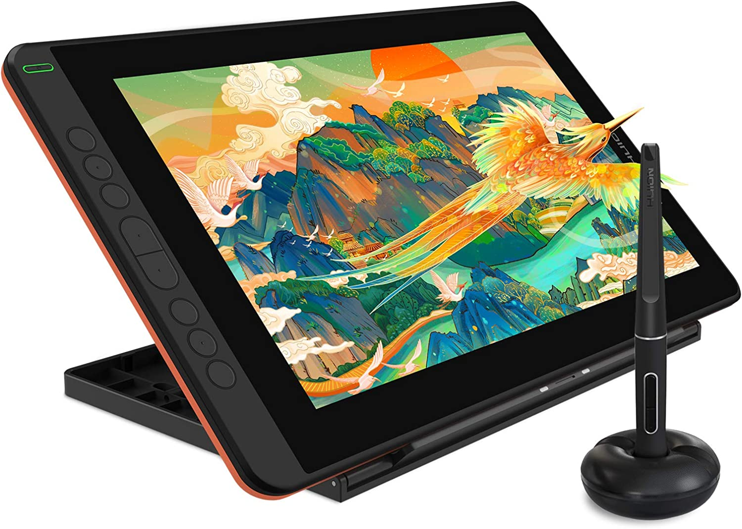 2021 HUION KAMVAS 12 Graphics Drawing Tablet with Screen Full Lamination Android Support Battery-Free Sylus Tilt 8 Press Keys Adjustable Stand