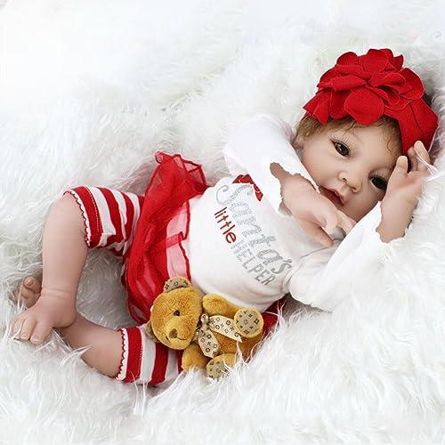 ATOYB Realistische Baby Puppen Rebirth Silikagel Simulation Baby Doll Lebensechte Kind Spielzeug