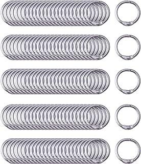 Antner Book Rings 0.75 Inch Small Loose Leaf Binder Rings Nickel Plated Metal, 120 Pack