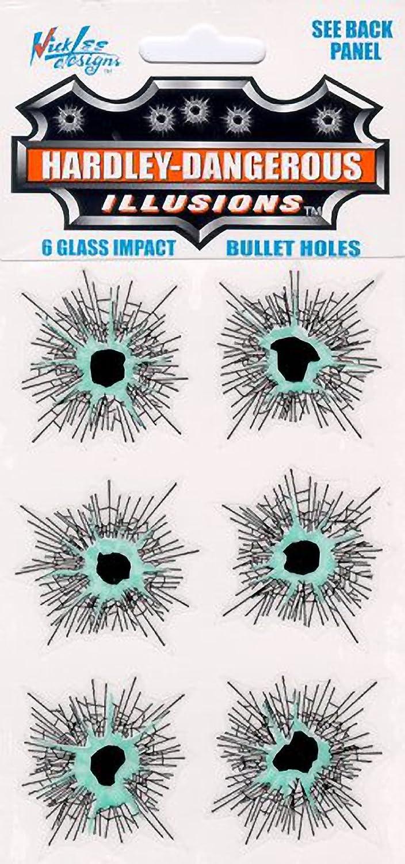 Fake Windscreen Holes (6 Stickers)