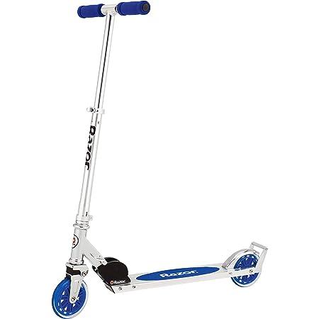 Razor A3 Kick Scooter for Kids - Larger Wheels, Front Suspension, Wheelie Bar, Lightweight, Foldable, and Adjustable Handlebars