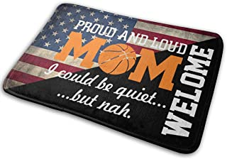 Proud And Loud Basketball Mom Entrance Antislip Floor Mat For Garage Patio High Traffic Areas Shoe Rugs Carpet