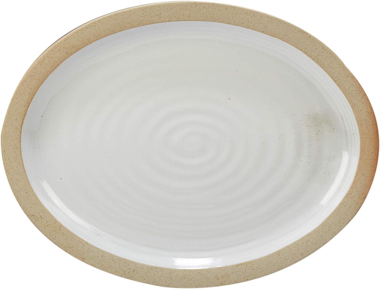 Certified International Fresno Mall Artisan Oval Platter 16