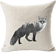 Andreannie Beautiful Animals Amazon Rainforest in Fox Cotton Linen Throw Pillow Case Cushion Cover New Home Office Indoor Decorative Square 18 X 18 Inches