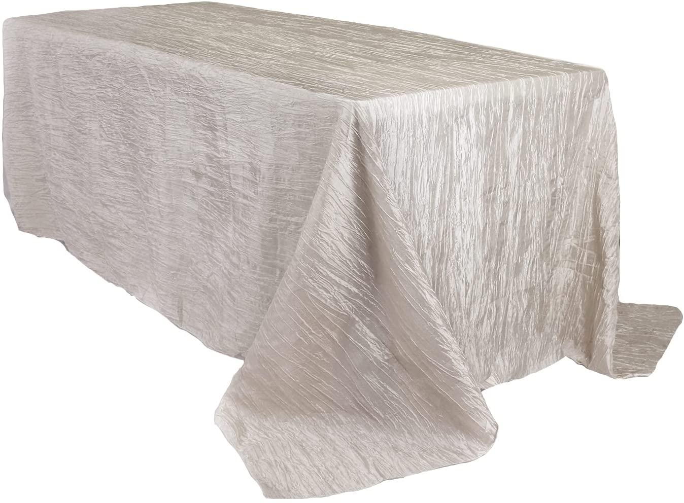 Elegant Your Chair Covers - 90 x Crinkle Discount is also underway Rectangular Taffeta Ta 132 inch