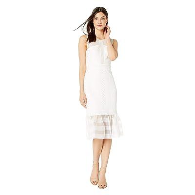 BCBGMAXAZRIA Maxi Crew Neck Knit Dress (Optic White) Women
