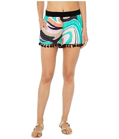 Trina Turk Nazare Tassel Shorts (Multi) Women