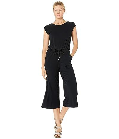 LAUREN Ralph Lauren Button-Shoulder Easy Stretch Jumpsuit (Polo Black) Women