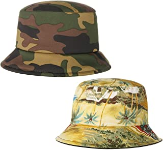 Lierys Cappello Reversibile Camouflage & Palms Donna/Uomo - Made in Italy di Tessuto Estivo da Sole Primavera/Estate
