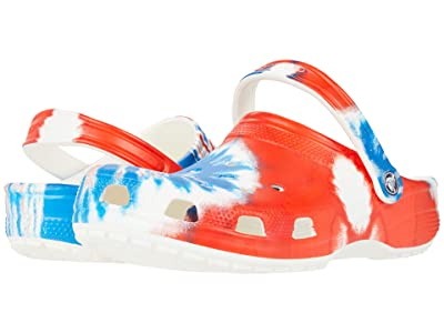 Crocs Classic Tie-Dye Graphic Clog (Multi/White) Clog Shoes