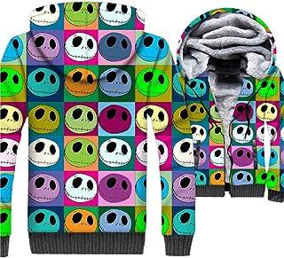 Jack Skellington Hoodies New 2019 Winter Warm Jackets Men Casual