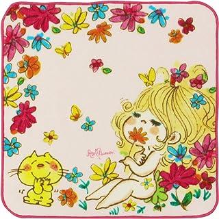 林(Hayashi) タオルハンカチ ピンク 約25×25cm 水森亜土 はなぞの PH450400
