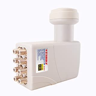 STARGOLD Universal 8-Output LNB Multi Satellite Compatible Solution, High Quality Digital Reception With Gain 70dB, Low Vi...