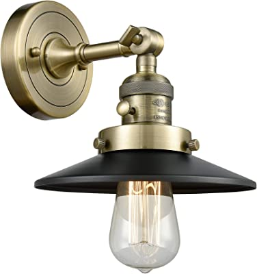 Innovations 203SW-SN-M2 1 Light Sconce with a High-Low-Off Switch, Brushed Satin Nickel