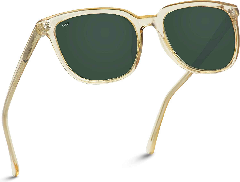 WearMe Pro - Classic Polarized Square Flat Retro Unisex Men Women Sunglasses