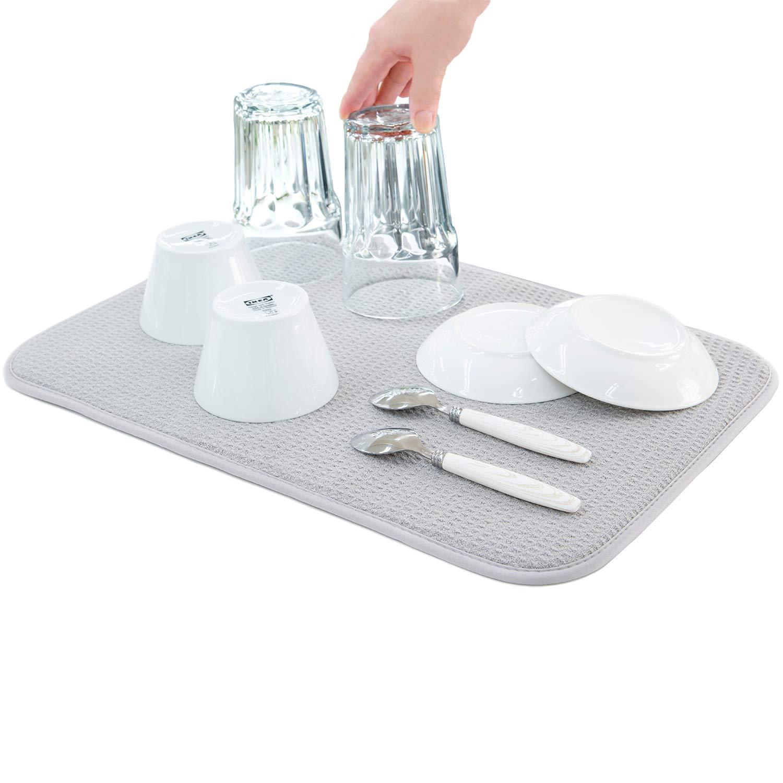 Amazon.co.jp: 水切りマット 抗菌 速乾吸水マット 食器乾燥マット ...