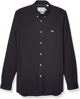 Lacoste Mens Slim Fit Stretch Cotton Poplin Shirt
