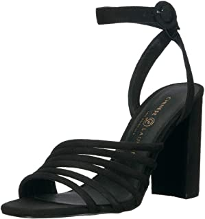 Chinese Laundry Women's Jonah Heeled Sandal, Black Suede, 6 M US