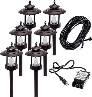 6 Pack Westinghouse 100 Lumen Low Voltage LED Pathway Light Landscape Kit w/Transformer & Cable (Bronze)