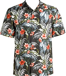 Tommy Bahama Evening Blooms Silk Blend Camp Shirt (Color: Night Cap, Size L)